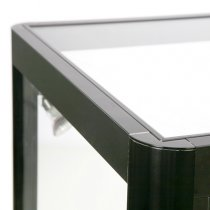 Glasmonter Showcase Desk Duo Svart - LED