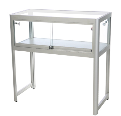 Glasmonter Showcase Desk Duo Silver